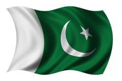 Vlag van Pakistan Stock Afbeelding