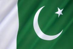 Vlag van Pakistan Royalty-vrije Stock Afbeeldingen