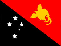 Vlag van Papoea-Nieuw-Guinea Royalty-vrije Stock Foto's