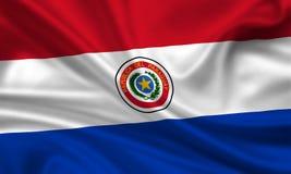 Vlag van Paraguay Stock Foto's