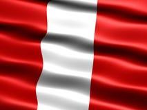 Vlag van Peru Royalty-vrije Stock Foto