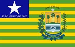 Vlag van Piaui, Brazilië royalty-vrije stock fotografie
