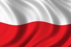 Vlag van Polen Royalty-vrije Stock Afbeelding