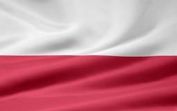 Vlag van Polen stock illustratie