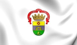 Vlag van Porto Alegre City, Brazilië Stock Afbeeldingen