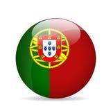 Vlag van Portugal Vector illustratie Stock Foto's