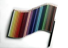 Vlag van potloden Royalty-vrije Stock Foto