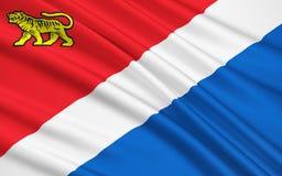 Vlag van Primorsky Krai, Russische Federatie stock illustratie