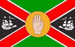 Vlag van Provincie Louth in Ierland stock foto