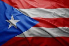 Vlag van Puerto Rico stock fotografie
