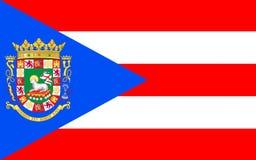 Vlag van Puerto Rico, de V.S. royalty-vrije stock afbeeldingen