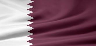 Vlag van Qatar Royalty-vrije Stock Afbeeldingen