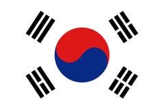 Vlag van Republiek Korea Stock Afbeelding