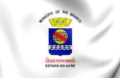 Vlag van Rio Branco City, Brazilië Royalty-vrije Stock Foto