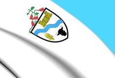 Vlag van Rio Bueno, Chili Stock Fotografie