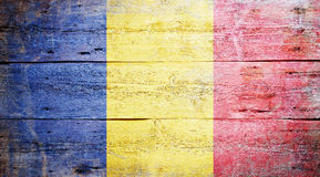 Vlag van Roemenië Stock Afbeelding