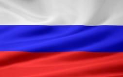 Vlag van Rusland stock illustratie