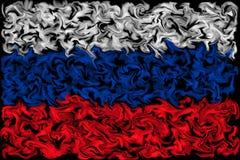Vlag van Rusland - het het branden gesmeerde ontwerp van de kleurenvlag vector illustratie
