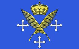 Vlag van Saint-Etienne, Frankrijk royalty-vrije stock foto