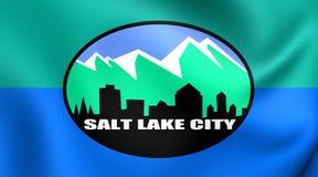 Vlag van Salt Lake City, de V.S. Stock Afbeelding