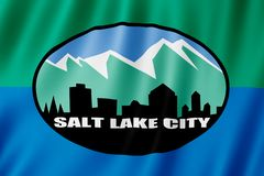 Vlag van Salt Lake City, Utah de V.S. stock illustratie