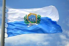 Vlag van San Marino Royalty-vrije Stock Foto's