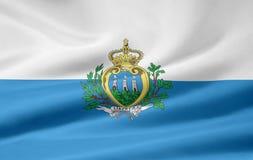 Vlag van San Marino stock illustratie