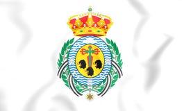 Vlag van Santa Cruz de Tenerife City, Spanje Stock Fotografie
