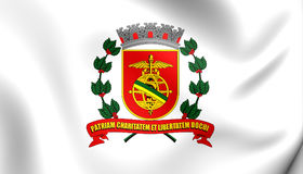 Vlag van Santos City Sao Paulo State, Brazilië Royalty-vrije Stock Foto's