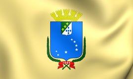 Vlag van Sao Luis City, Brazilië Stock Fotografie