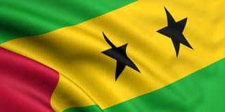 Vlag van Sao Tomé en Principe Royalty-vrije Stock Foto's