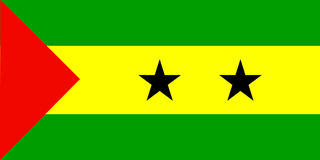 Vlag van Sao Tomé en Principe Stock Foto's