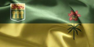 Vlag van Saskatchewan (Canada) stock afbeelding