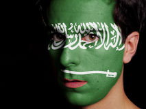 Vlag van Saudi-Arabië royalty-vrije stock foto