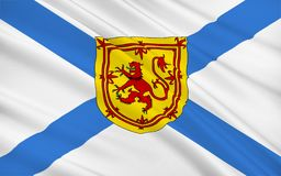 Vlag van Schotland, het Verenigd Koninkrijk van Groot-Brittannië Stock Foto's