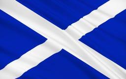 Vlag van Schotland, het Verenigd Koninkrijk van Groot-Brittannië Royalty-vrije Stock Foto's