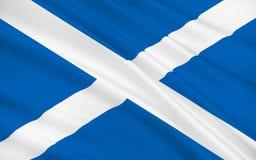 Vlag van Schotland, het Verenigd Koninkrijk van Groot-Brittannië royalty-vrije illustratie