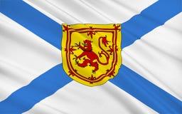 Vlag van Schotland, het Verenigd Koninkrijk van Groot-Brittannië vector illustratie