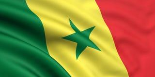 Vlag van Senegal Royalty-vrije Stock Foto