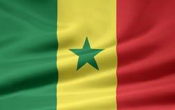 Vlag van Senegal royalty-vrije illustratie