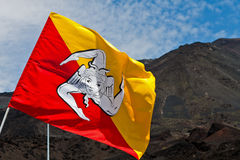 Vlag van Sicilië Stock Foto