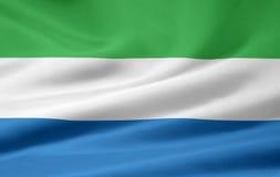 Vlag van Sierra Leone stock illustratie