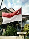 Vlag van Singapore Stock Foto