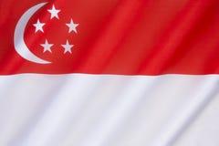 Vlag van Singapore Royalty-vrije Stock Foto's