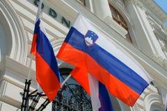 Vlag van Slovenië Stock Afbeeldingen