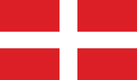 Vlag van soevereine militaire orde van Malta Stock Foto's