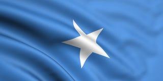 Vlag van Somalië Royalty-vrije Stock Foto's