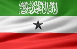 Vlag van Somaliland royalty-vrije illustratie