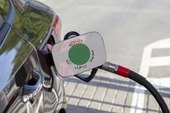 Vlag van Somaliland op de de vullerklep van de auto` s brandstof royalty-vrije stock foto