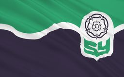 Vlag van South Yorkshire-provincie, Engeland Stock Illustratie